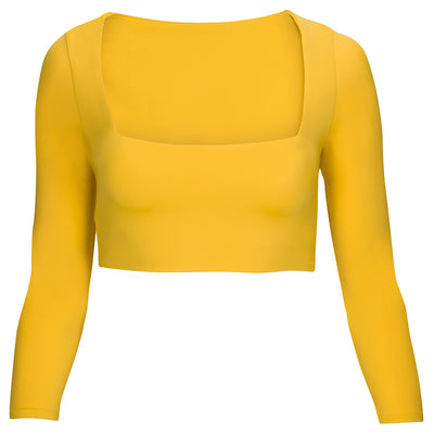 Capri Square: The Modern Square Long Sleeve Crop Top