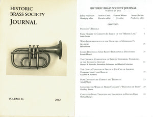 Historic Brass Society Journals