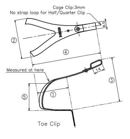 Steel Toe Clips