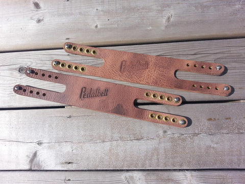 Leather Straps with Rivets Antique Brown