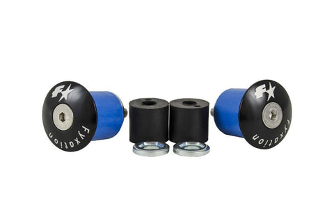 Coloured Alloy Road Bar End Plugs