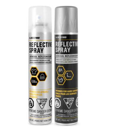 Albedo 100 Reflective Spray Non-Permanent Colorless and Permanent Silver Metallic