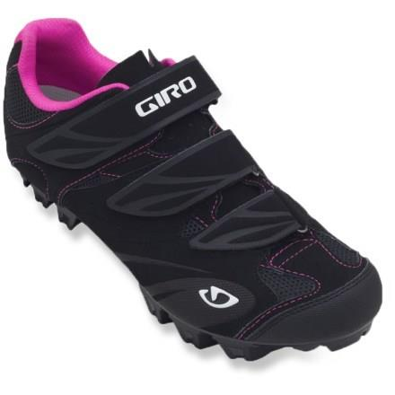 Riela Women Cycling Shoes BlackRed Front Side