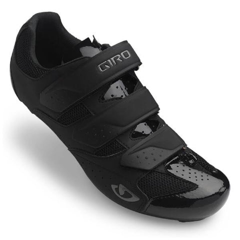 Techne Road Cycling Shoes Black Front Top
