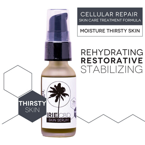 IrieGLO CBD Cellular Repair Serum - Moisture Thirsty Skin