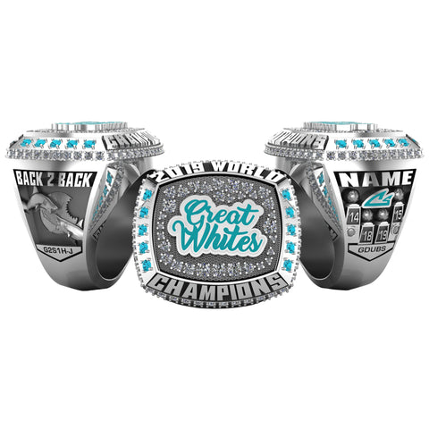 Cheer Sport Sharks Great Whites - 2019 Worlds - 3X