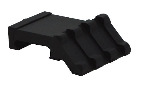 "Low Profile Tactical Picatinny/Weaver 45 Degree Angle Mount, 1.37"" Long with 3 Slots"