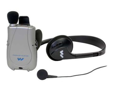 Williams Sound PKT D1 EH Pocketalker Ultra Duo Pack Amplifier with Single Mini Earbud and Folding Headphone