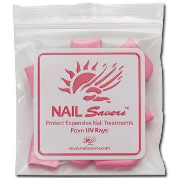 NAIL SAVERS Individual Bag (Contains 10 Finger Tips) protect nails from Tanning Beds / UV Rays