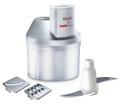 Bamix SliceSY Hand Blender Food Processor Attachment, White