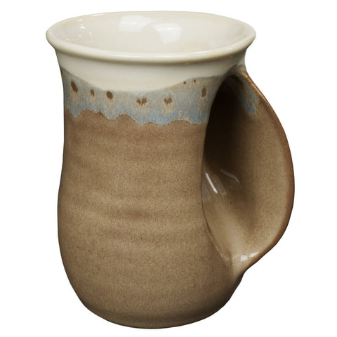 Clay In Motion Handwarmer Mug - Desert Sand Right Handed