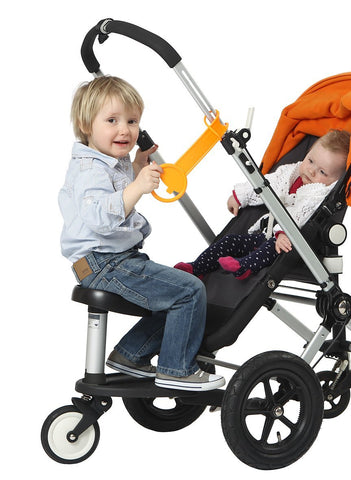 Kleine Dreumes Twoo Bugaboo Wheeled Board Seat - Black/Silver