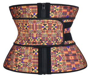 Colorful Intense Tribal Hourglass Sweat Belt Waist Trainer