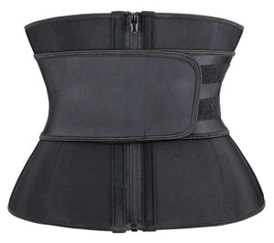 Black Super Latex Hourglass Sweat Belt Waist Trainer