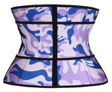 Colorful Intense purple-blue Hourglass Sweat Belt Waist Trainer