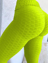 Light colored anti cellulite high waist yoga pants leggings