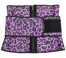 Extra Intense Hourglass Sweat Belt Leopard Purple Love
