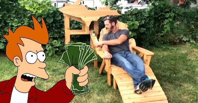 Guy Makes An Awesome Beer Dispensing Backyard Chair