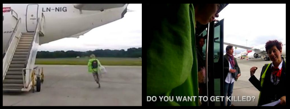 """DO YOU WANT TO GET KILLED?"" – AIRPORT STAFF ARE BAFFLED AS A PASSENGER RAN ACROSS THE RUNWAY TO RETRIEVE A BAG SHE LEFT ON THE PLANE!"