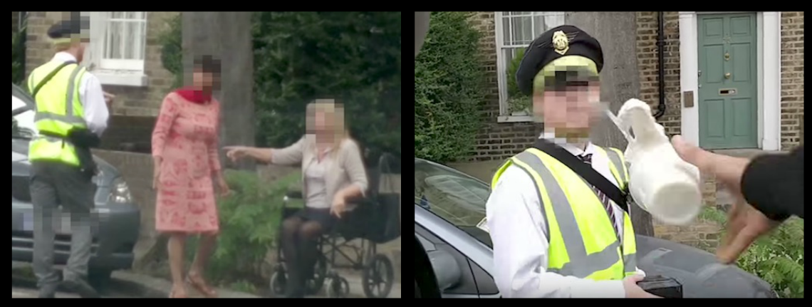 CHEEKY LADS SEE A PARKING INSPECTOR TICKETING A WOMAN IN A WHEELCHAIR, SO THEY DO A CLASSIC DRIVE-BY DRINK TOSS, SERVING SOME INSTANT KARMA!