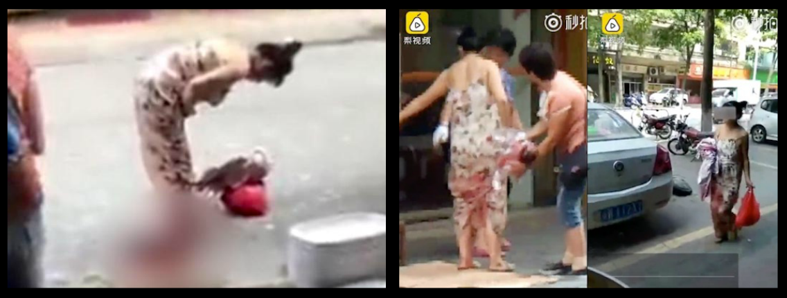WOMAN IN CHINA GIVES BIRTH TO BABY ON STREET WHILE SHOPPING, THEN CASUALLY WALKS HOME CARRYING NEWBORN AND GROCERIES!
