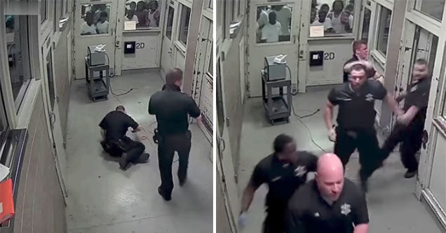 Inmates Jump Correctional Officers In A Cook County Prison