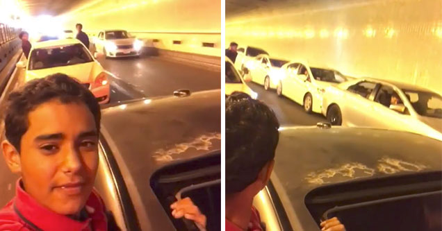 Idiots Stop Their Cars In A Tunnel And The Unthinkable Happens