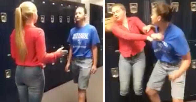 Girl Refuses To Fight Back Because She Doesn't Want to Get Suspended