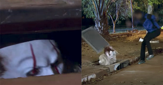 Brazilians Show Pulls Off A Spooky Pennywise Prank