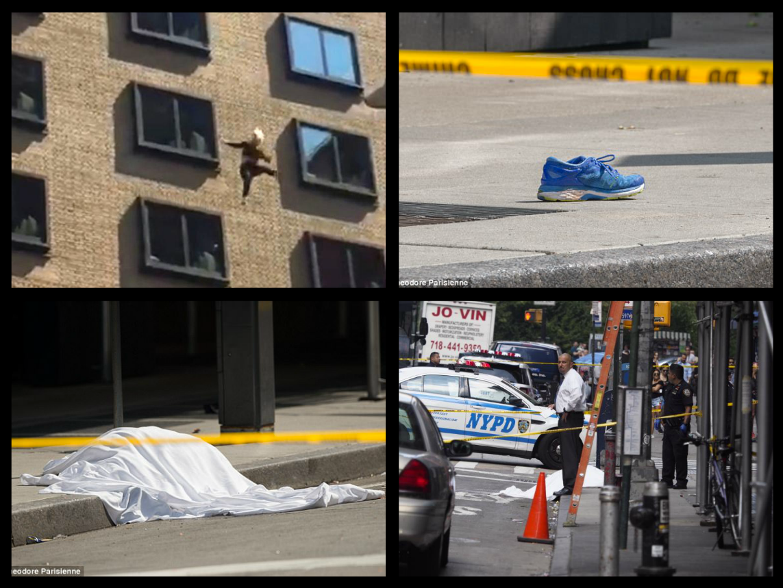 WARNING-GRAPHIC CONTENT!- Woman jumps to her death from 12th floor of ritzy 1 Hotel Central Park