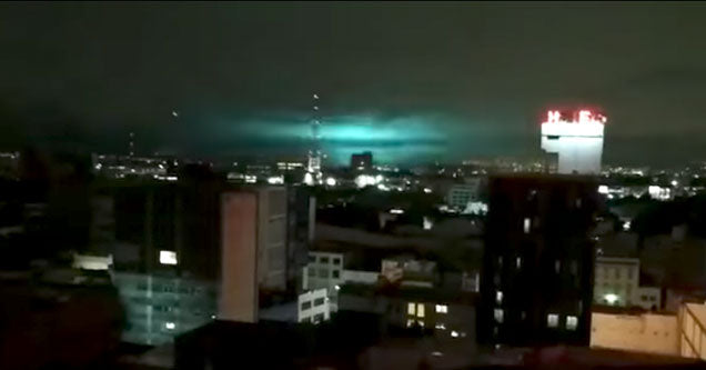 Strange Lights In The Sky Before The 8.0 Earthquake In Mexico