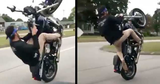 This Is The Craziest Motorcycle Wheelie You'll Ever See