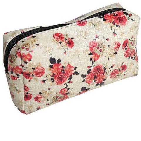 vintage rose Makeup Bag by Lucky 13 Apparel