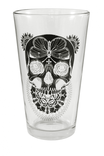"""Black Death"" Pint Glass by Inked"