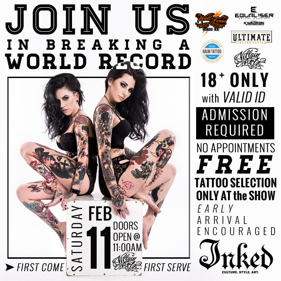 Inked x Guinness World Record Breaking Event