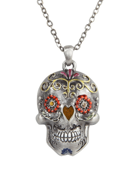 """Day Of The Dead Skull"" Necklace by Pacific Trading - www.inkedshop.com"