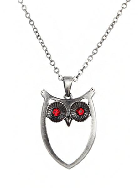 """Owl"" Necklace by Pacific Trading - www.inkedshop.com"