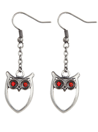 """Owl"" Earrings by Pacific Trading - www.inkedshop.com"