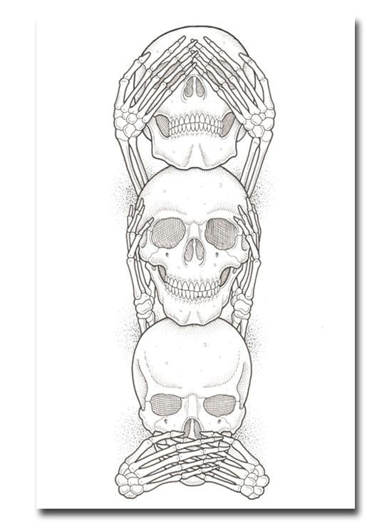"""No Evil"" Print by Ozzie Perez for Inked - InkedShop - 1"