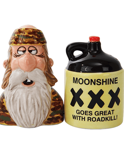 """Moonshine"" Salt and Pepper Set by Pacific Trading - www.inkedshop.com"