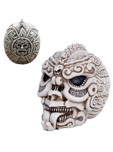 """Aztec"" Skull by Pacific Trading - www.inkedshop.com"