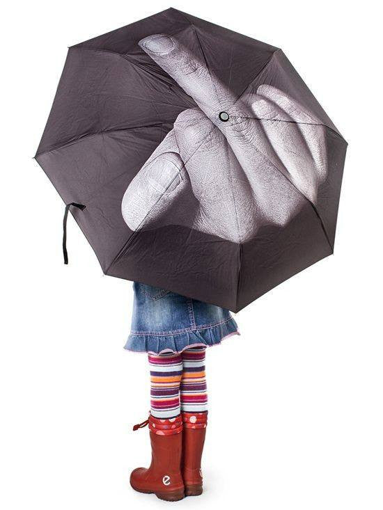 """Fuck The Rain"" Umbrella (Black) - InkedShop - 1"