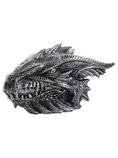 """Dragon Head"" Box by Pacific Trading (Silver) - www.inkedshop.com"