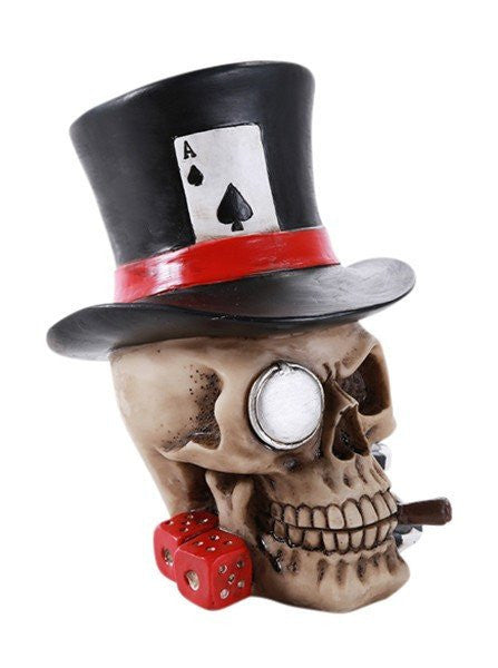 """Poker Skull Hat"" by Pacific Trading - www.inkedshop.com"