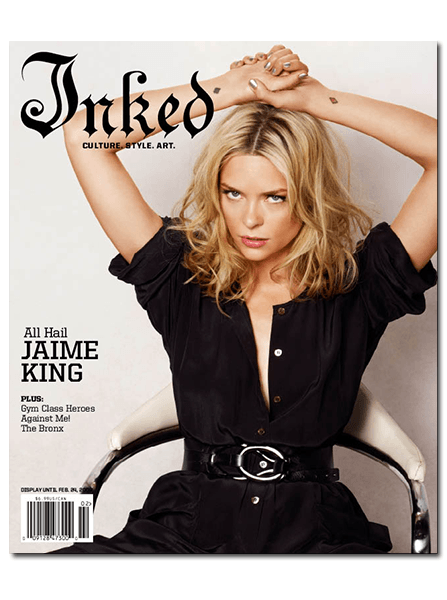 Inked Magazine: Jaime King - February 2009 - InkedShop - 1