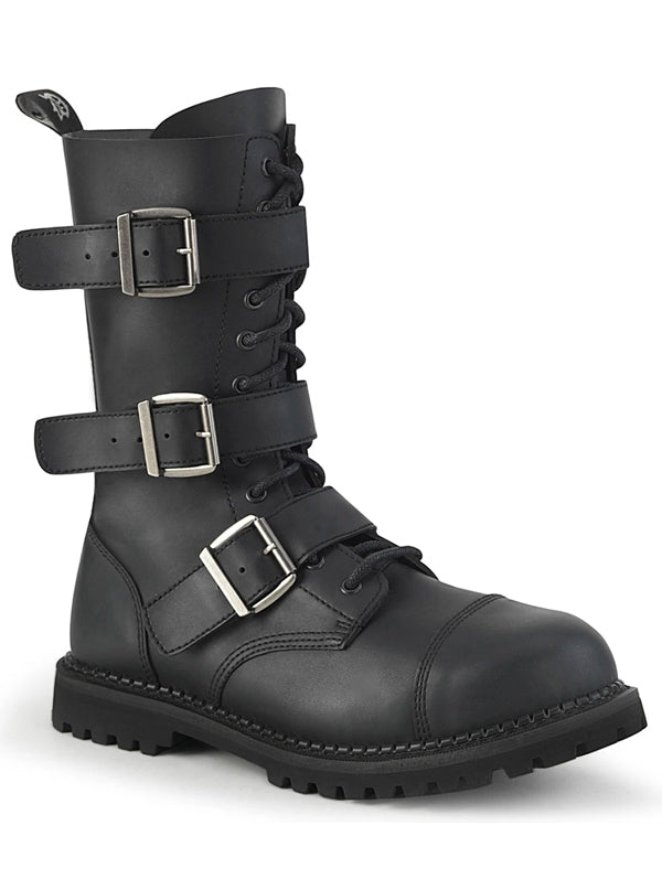 Unisex Riot 12BK Boot by Demonia