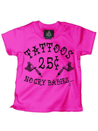 "Kid's ""Tattoos 25¢ No Cry Babies"" Tee by Cartel Ink (More Options) - www.inkedshop.com"