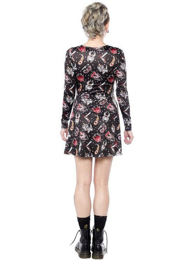 "Women's ""Friday The 13th"" Vavavoom Dress by Sourpuss (Black)"