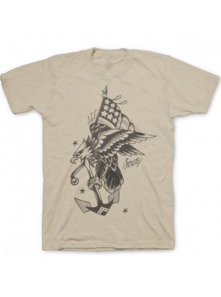 "Men's ""Flying Eagle"" Tee by Sailor Jerry (Tan) - www.inkedshop.com"