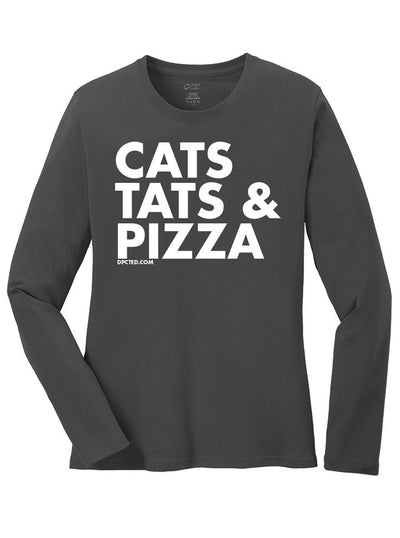 "Women's ""Cats Tats & Pizza"" Collection by Dpcted Apparel (More Options) - www.inkedshop.com"